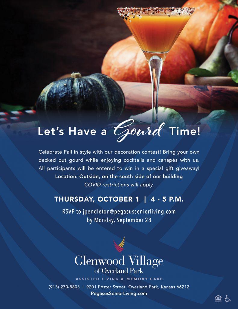 Glenwood Village of Overland Park | Let's Have a Gourd Time Flyer