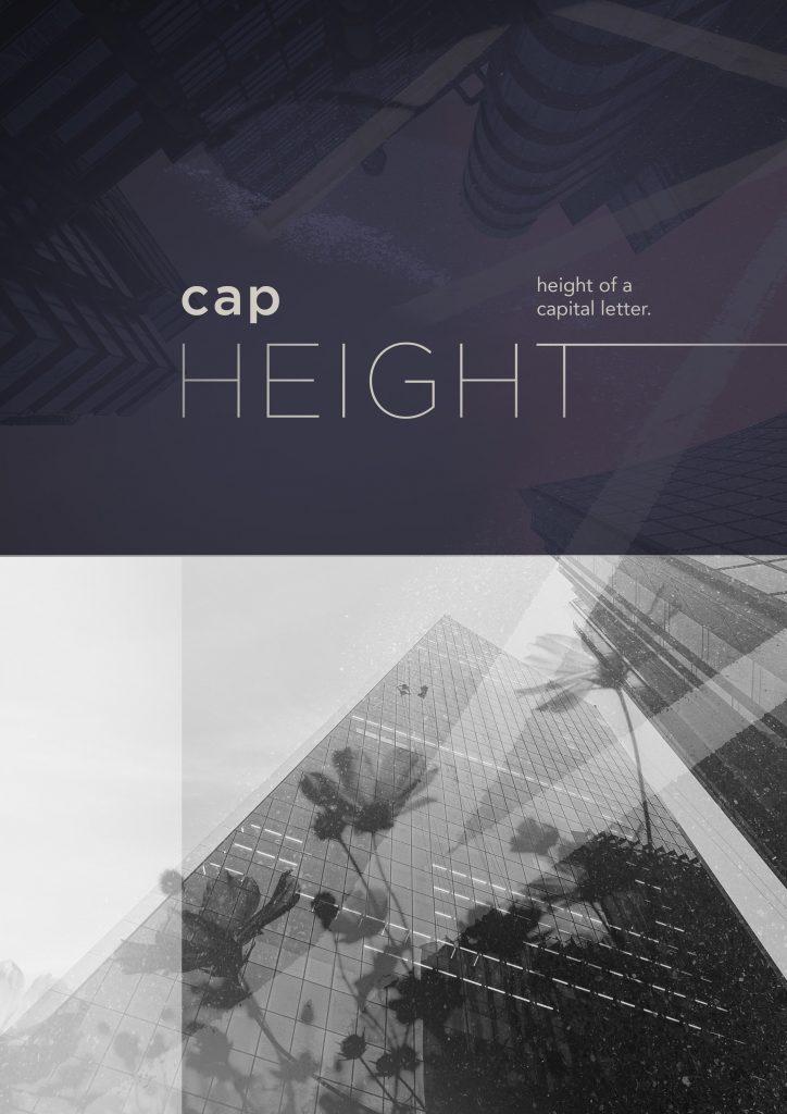 """Cap Height"" Poster"